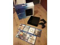Boxed Sony PS4 500gb, 2 yrs old and 7 games - Clydebank Area - Will deliver around Glasgow Vicinity