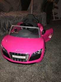 Kids pink Audi stroller