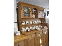 SOLID PINE FARMHOUSE LARGE WELSH DRESSER. TOP DETACHABLE FROM BASE