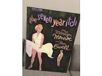 Rare Marilyn Monroe felt backed Heavy picture Film Movie Canvas retro vintage man cave SDHC