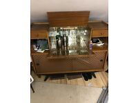Vintage furniture 70s drinks cabinet w/side board