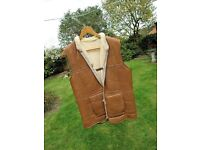 Mens Sheepskin Sleeveless Jacket. Condor..Made in Ipswich. Excellent Condition
