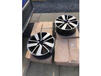 "Renault Clio sport MK4 17"" diamond cut alloy wheels (set of 4) drenalic noir"