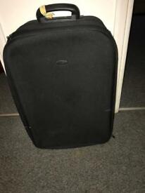 Used black suitcase