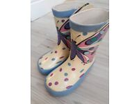 John Lewis butterfly wellies infant size 5