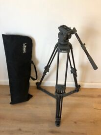 Libec Professional Video Camera Tripod (T72) and Fluid Head (H55) with Case