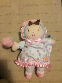 ELC Cupcake soft doll with bottle and blanket