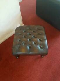 Old leather stool