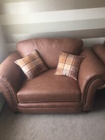 Brand New Soft Leather Love Seat from SCS slightly smaller than 2 seater sofa
