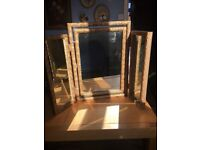 Dressing table mirror wooden frame
