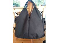 Lassig change bag, black. Lightly used in excellent condition.