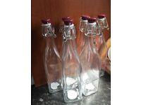 6 Kilner glass bottles