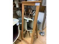 oak floor standing mirror