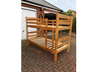 Bunkbed solid pine bunk bed