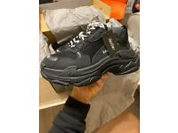 Balenciaga triple s sneakers size 38 in black