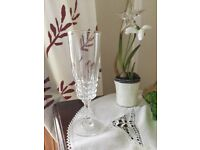 Genuine Lead Crystal champagne Flutes x6 -Absolutely Beautiful-24%(PbO)