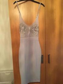 Grey mesh dress