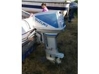 Suzuki DT50 outboard +boat