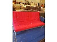 Modern steel framed futon double bed perfect working order and in good condition