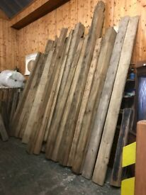 Reclaimed fireplace beams