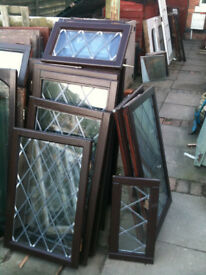 Double glazed window inserts (wood) of various styles
