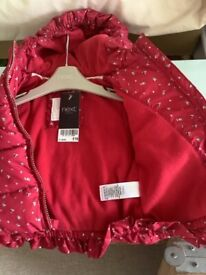 New Next baby coat/jacket with labels 6-9 months