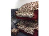 2 x 2 Seater Sofas and puffet