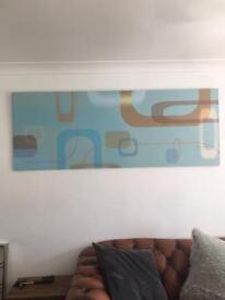 Wall art designer print on wood