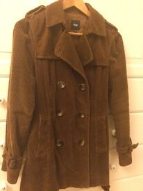 Women's brown corduroy jacket, size S - barely worn