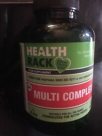 Health rack multi complex 250. Nearly a full bag of mass gainer aswell.