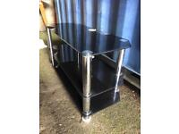 Large black glass Tv stand FREE DELIVERY PLYMOUTH AREA