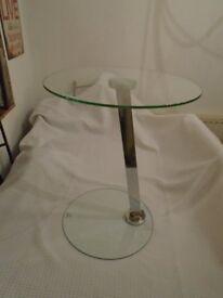 MODERN DESIGNER CHROME GLASS 1960's???