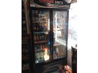 Coke double drinks fridge