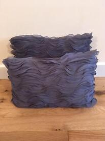 Lovely pair of purple 100 percent silk cushions from Linea in House of Fraser's.
