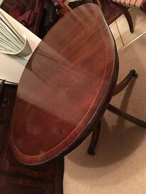 Dining table and chairs mahogany extendable