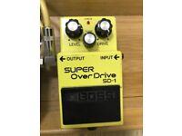 Boss Super Overdrive SD 1 Guitar Effect Pedal