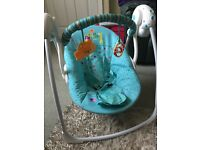 Baby swing with music and 6 speeds