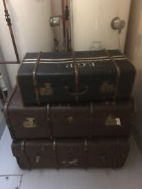 Vintage trunks / suitcases