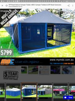 Market Direct Camper with BRAND NEW TENT Unused & BONUS sunroom