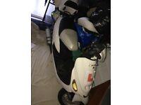 2x 50 cc direct bikes moped one black one white