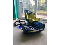 Graco Evo car seat and Isofix base and stroller adaptor