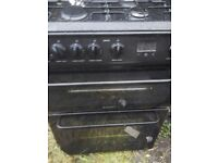 Hotpoint freestanding gas cooker in Black 60cm