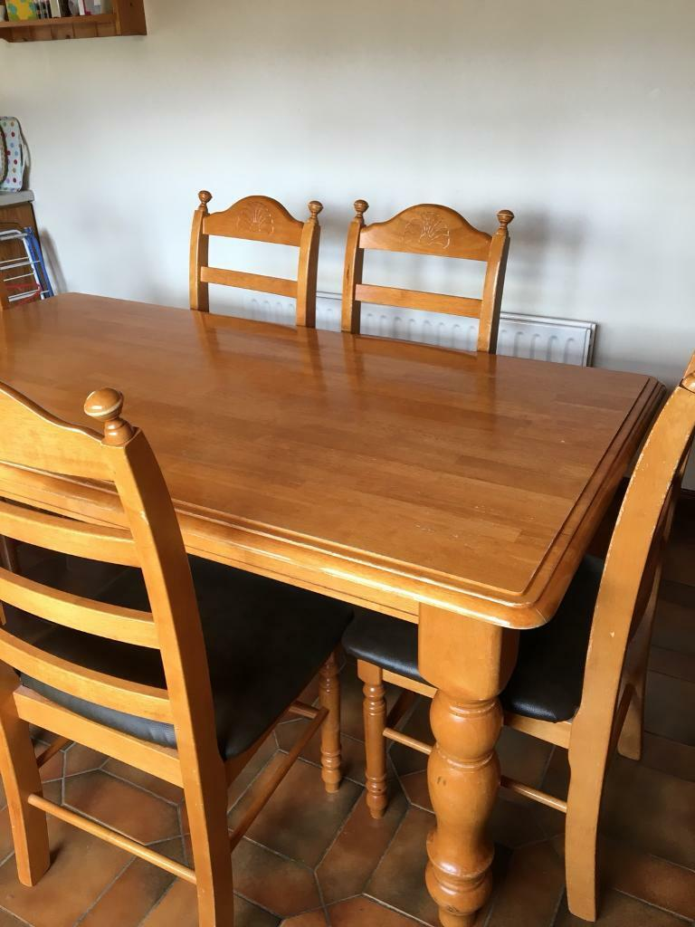 rubber wood dining table and 6 chairs in magherafelt county
