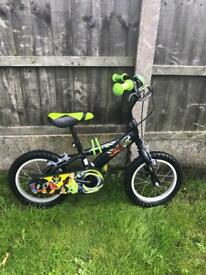 """ULTIMATE BEN 10 BIKE, 14"""" WHEELS, BELL, fully working and really good condition"""