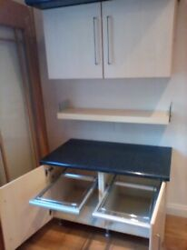 Office cupboards and worktops and draws
