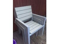 4 X ikea garden chairs