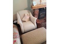 DFS doll, 3 seater sofa, 2 seater, armchair, foot stool.