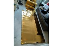 Gold mirrored vinyl material excellent central London bargain