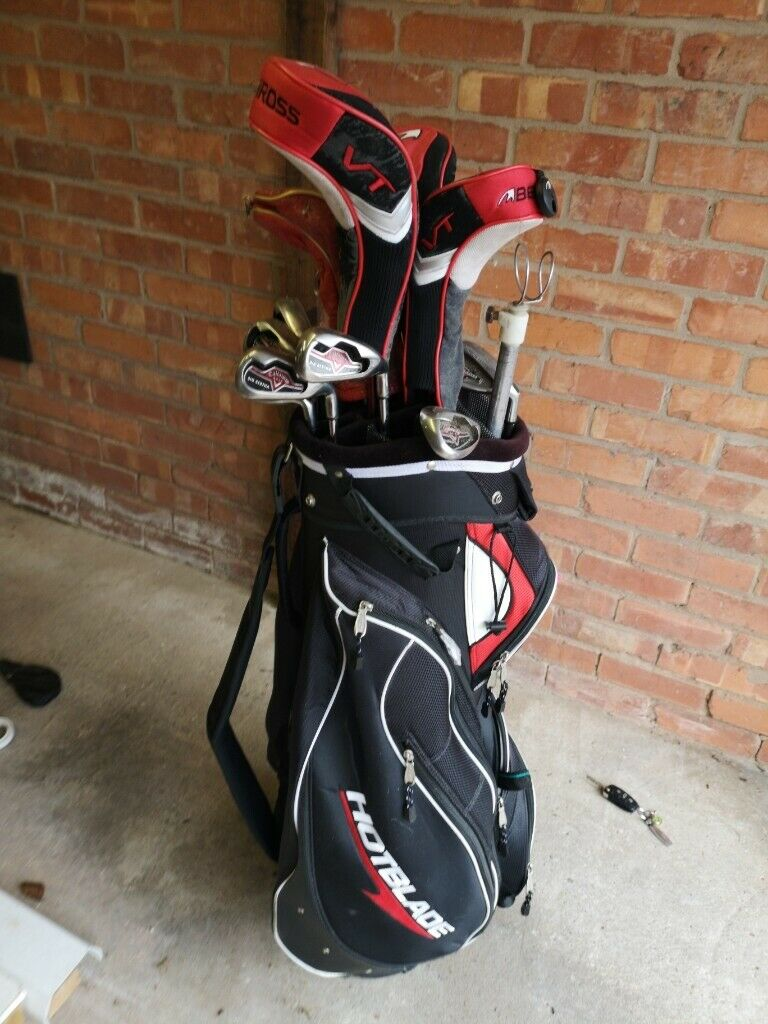 Professional set of golf clubs with bag, balls, tees, driving range tees,  ball rescuer and umbrella | in Mapperley, Nottinghamshire | Gumtree