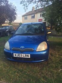 Cheap Bargain, Toyota Yaris 1.0 5dr Petrol, April 2017 MOT, Quick Sell, Lady Owners £599ONO